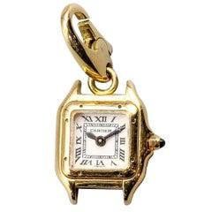 Cartier 18 Karat Yellow Gold Panthere Watch Charm