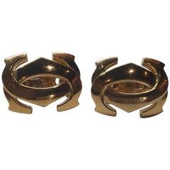 Cartier 18 Karat Yellow Gold Penelope Double C Earrings
