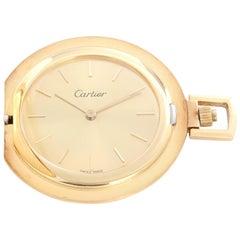 Cartier 18 Karat Yellow Gold Pocket Watch