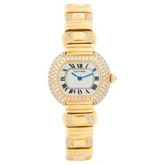 Cartier 18 Karat Yellow Gold Quartz Ellipse Ladies Watch / Bracelet