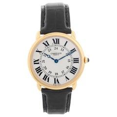 Cartier 18 Karat Yellow Gold Ronde Louis Ladies Watch