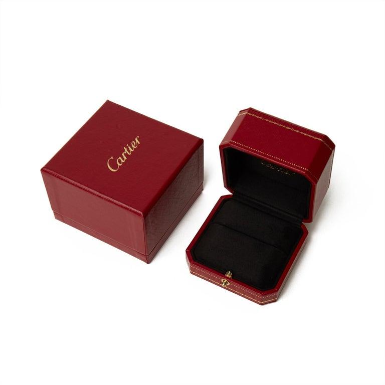 Modern Cartier 18 Karat Yellow Gold Solitaire 0.25 Carat Solitaire Diamond Ellipse Ring