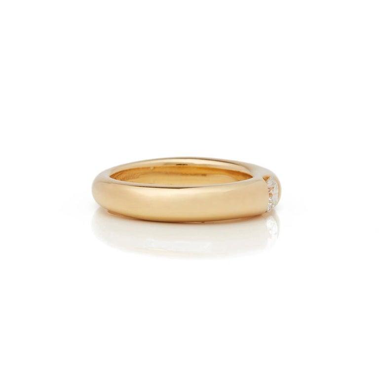 Women's Cartier 18 Karat Yellow Gold Solitaire 0.25 Carat Solitaire Diamond Ellipse Ring