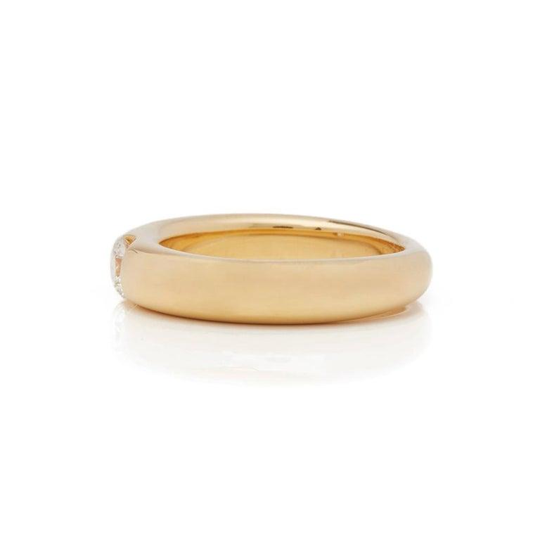 Cartier 18 Karat Yellow Gold Solitaire 0.25 Carat Solitaire Diamond Ellipse Ring 1