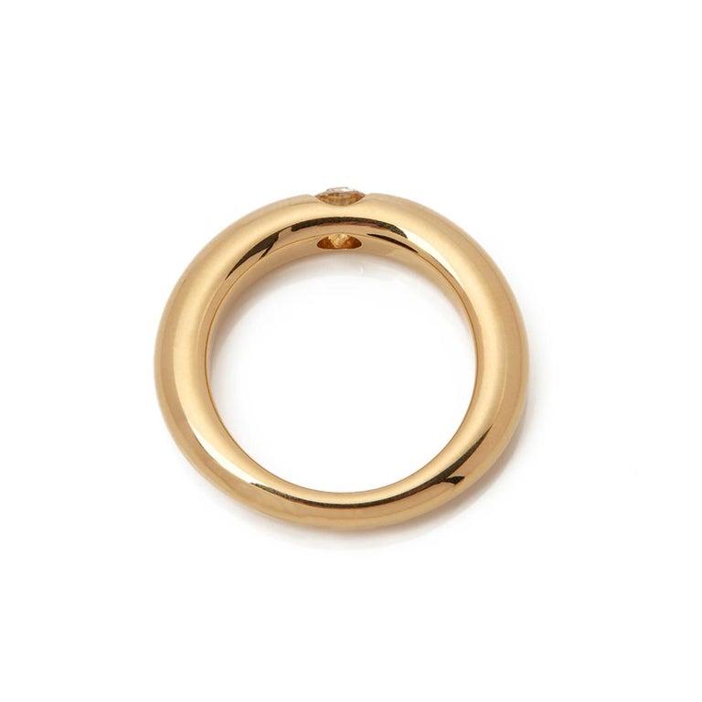 Cartier 18 Karat Yellow Gold Solitaire 0.25 Carat Solitaire Diamond Ellipse Ring 2