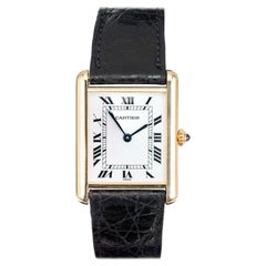 Cartier 18 Karat Yellow Gold Tank Louis Wristwatch