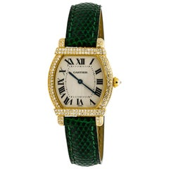 Cartier 18 Karat Yellow Gold Tortue Chinoise Watch