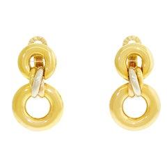 Cartier 18 Karat Yellow Gold Trinity Drop Dangle Earrings W Certificate COA
