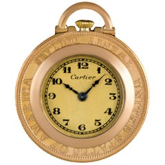 Cartier 18 Karat Yellow Gold Twenty Dollar Coin Pendant Pocket Watch