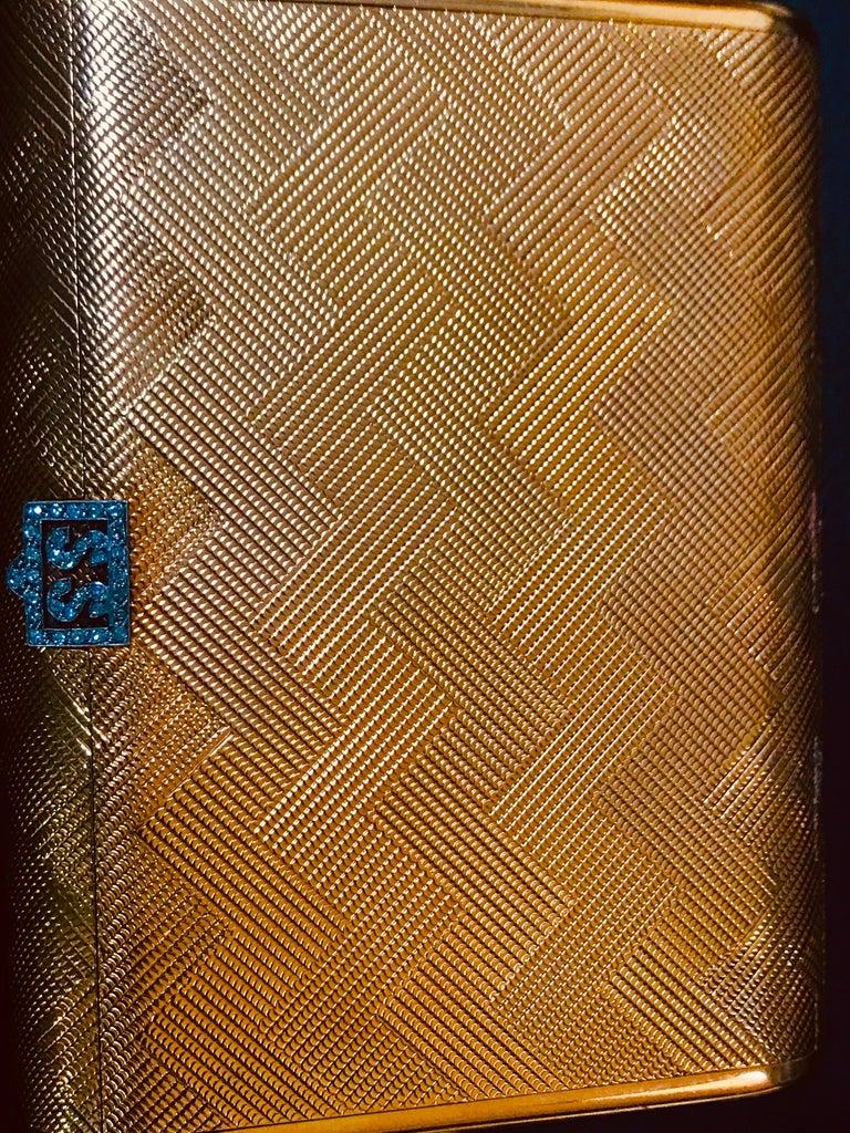 Cartier 18 Karat Yellow Gold Vanity Case 279 Grams, Art Deco, 279 Gm Gold For Sale 3