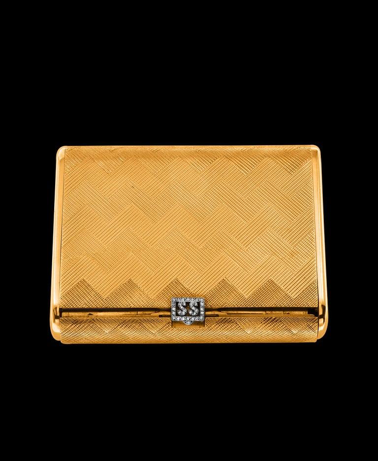 Cartier 18 Karat Yellow Gold Vanity Case 279 Grams, Art Deco, 279 Gm Gold For Sale 5
