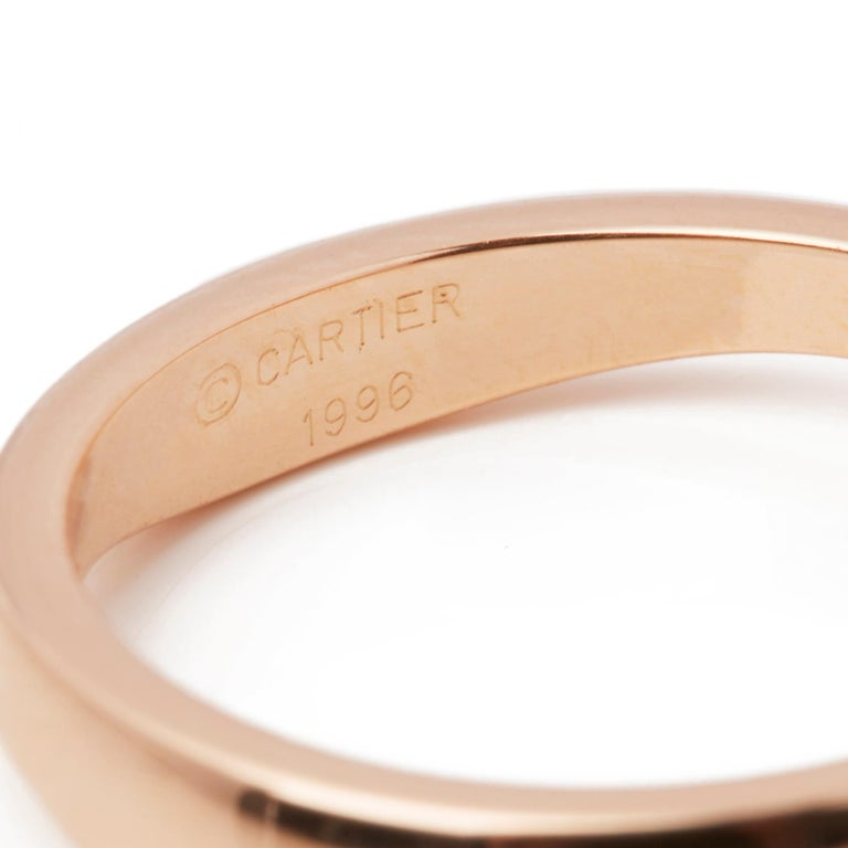 Cartier 18 Karat Yellow, White and Rose Gold Diamond Stackable Rings For Sale 5