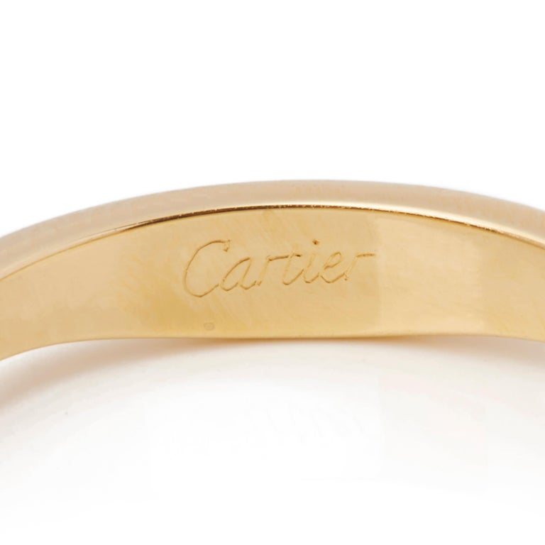 Cartier 18 Karat Yellow, White and Rose Gold Diamond Stackable Rings For Sale 1
