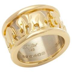 Cartier 18 Karat Yellow and White Gold Pharaon Elephant Band Ring