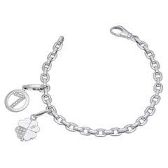 Cartier 18 Kt. White Gold Diamonds Charms Bracelet