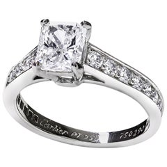 Cartier 1895 1.03 Carat Radiant Cut Solitaire Engagement Ring