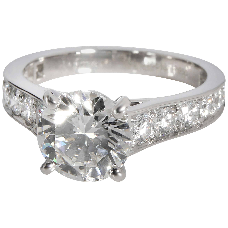 Cartier 1895 Diamond Engagement Ring in Platinum H VS1 2.19 Carat