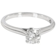Cartier 1895 Diamond Solitaire Ring in Platinum 0.39 Carat
