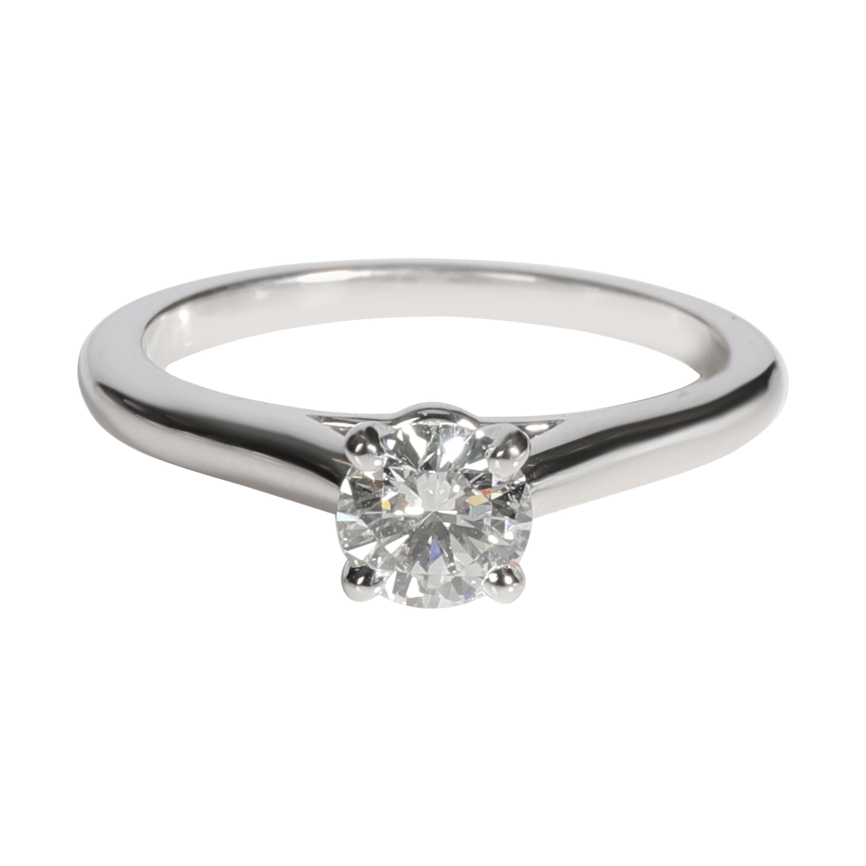 Cartier 1895 Diamond Solitaire Ring in Platinum GIA Certified G VVS2 0.38 CTW