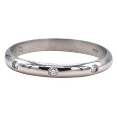 Cartier 1895 Platinum 3 Diamond Wedding Band Ring