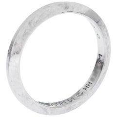 Cartier 1895 Platinum Wedding Band Ring Size 51
