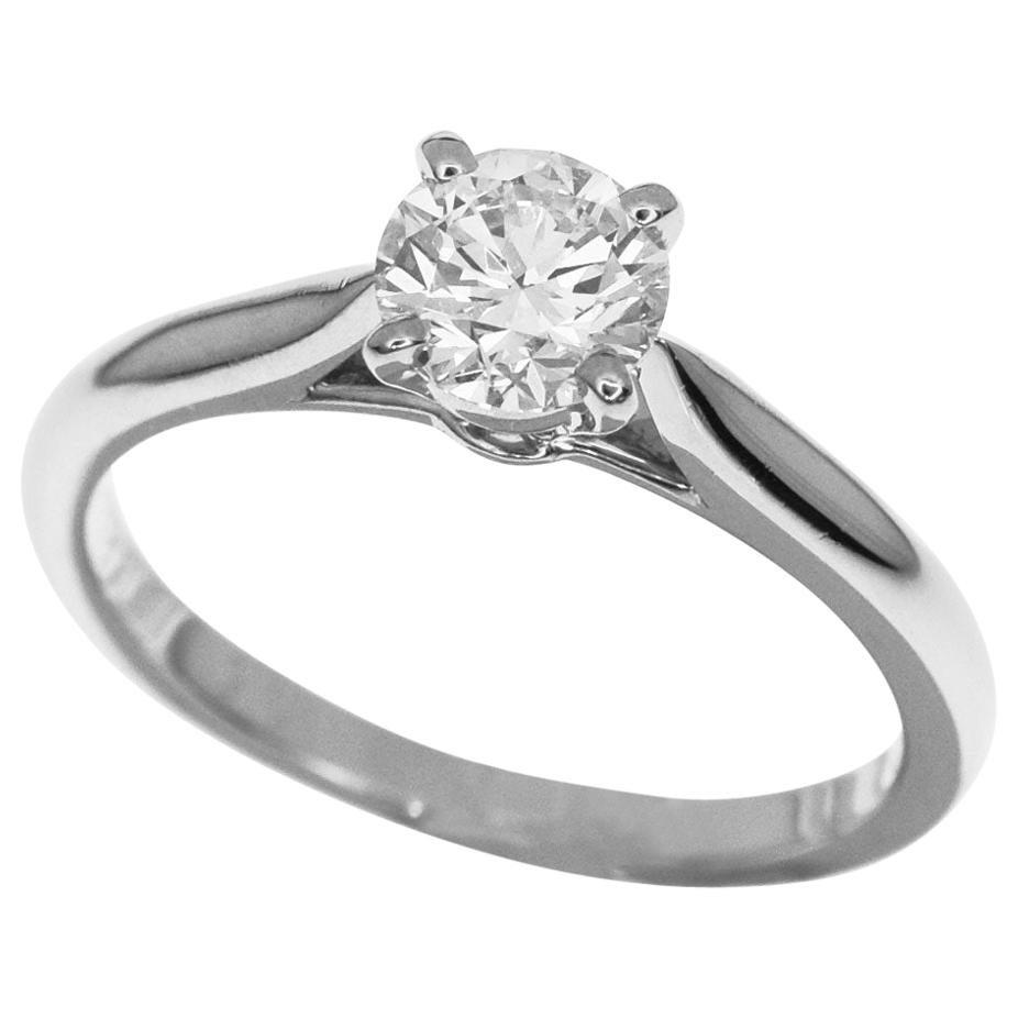 Cartier 1895 Solitaire 0.51 Carat Diamond Platinum Ring