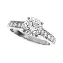 Cartier 1895 Solitaire 0.85 Carat Diamond Platinum Ring