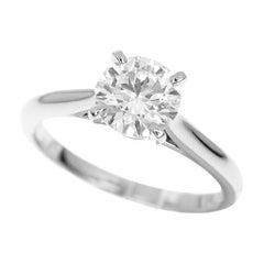 Cartier 1895 Solitaire 1.02 Carat Diamond Platinum Ring