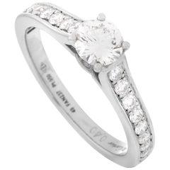 Cartier 1895 Solitaire Platinum 0.40 Carat Diamond Ring