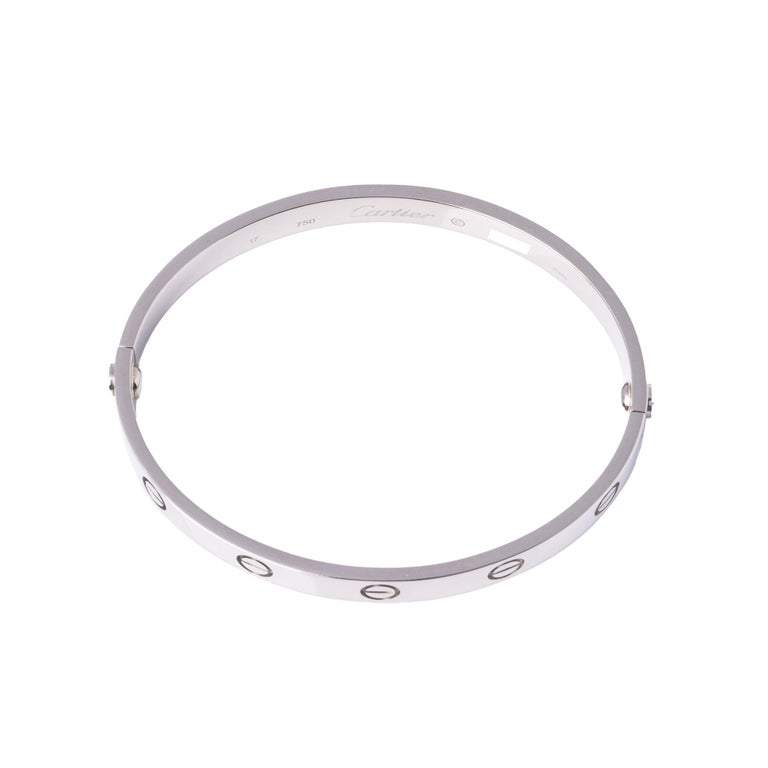Cartier 18ct White Gold Love Bangle For Sale 1