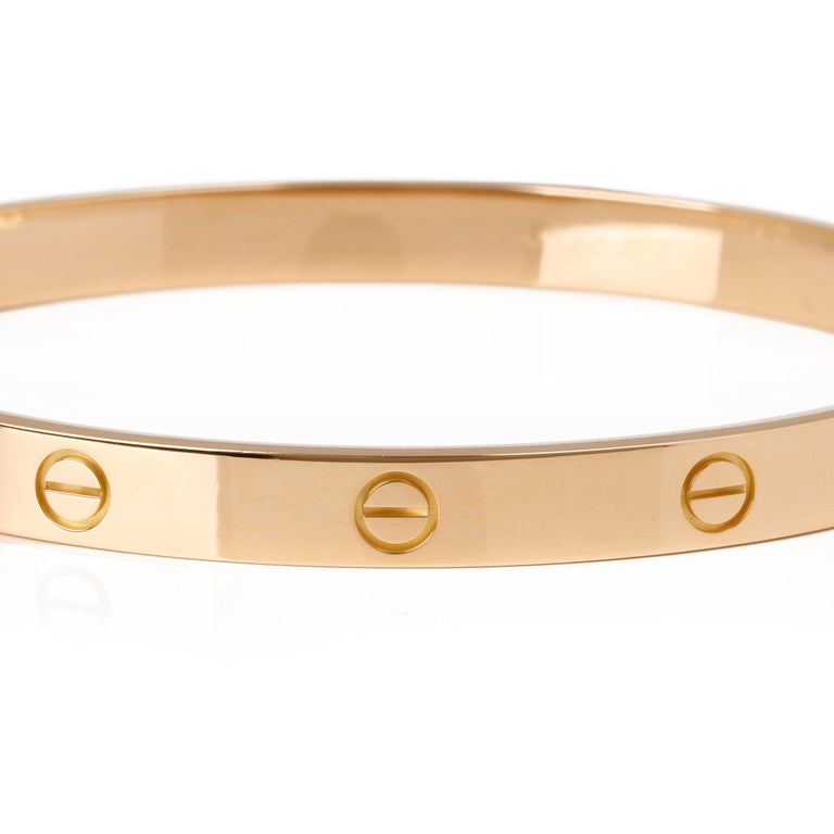 Contemporary Cartier 18ct Yellow Gold Love Bangle For Sale