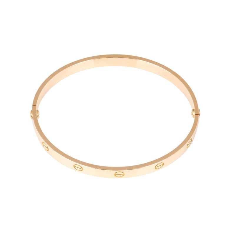 Women's or Men's Cartier 18ct Yellow Gold Love Bangle For Sale