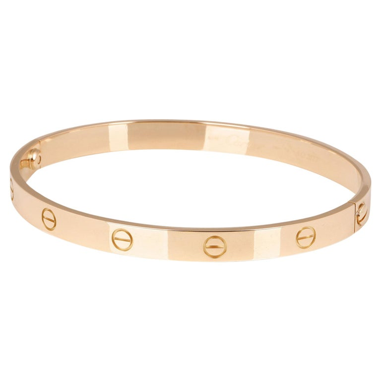 Cartier 18ct Yellow Gold Love Bangle For Sale
