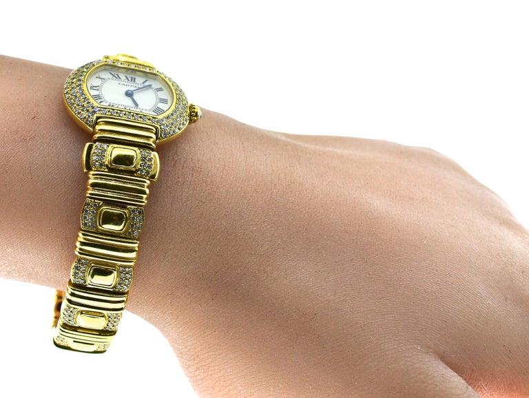 Cartier 18 Karat and Diamond Wristwatch or Bracelet 7