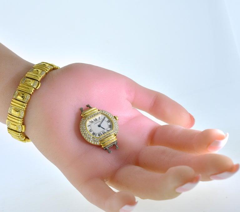 Cartier 18 Karat and Diamond Wristwatch or Bracelet 9