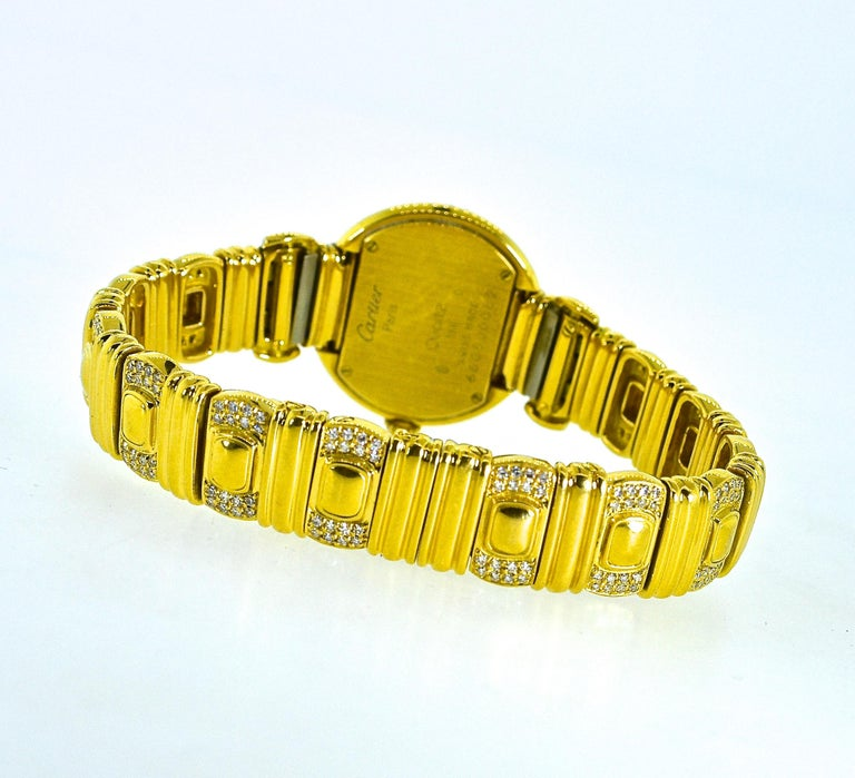 Contemporary Cartier 18 Karat and Diamond Wristwatch or Bracelet