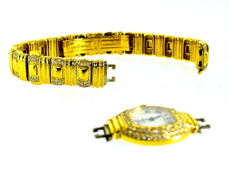 Women's or Men's Cartier 18 Karat and Diamond Wristwatch or Bracelet