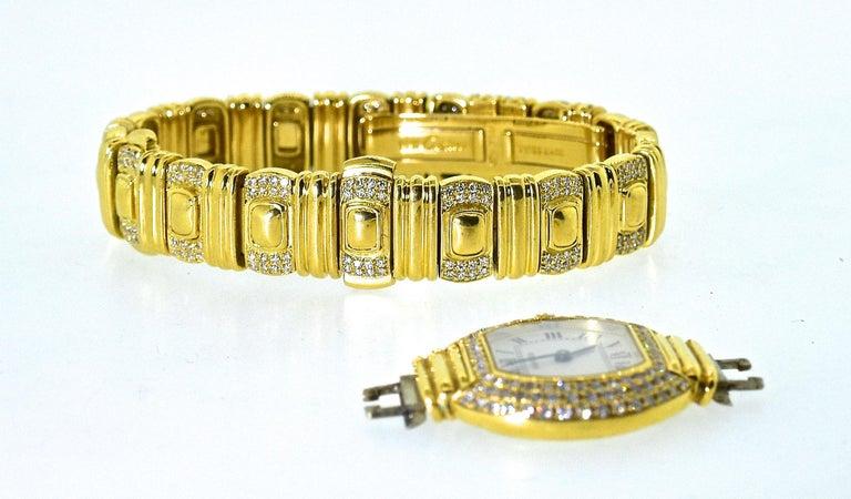 Cartier 18 Karat and Diamond Wristwatch or Bracelet 1