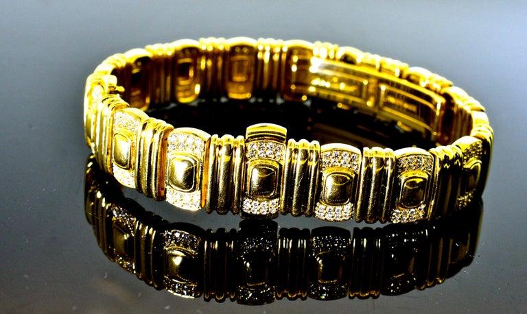 Cartier 18 Karat and Diamond Wristwatch or Bracelet 4