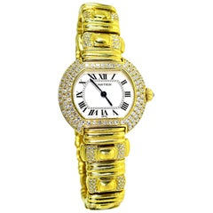 Cartier 18 Karat and Diamond Wristwatch or Bracelet