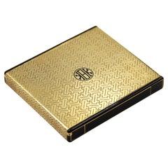 Cartier 18k Gold Enamel Box