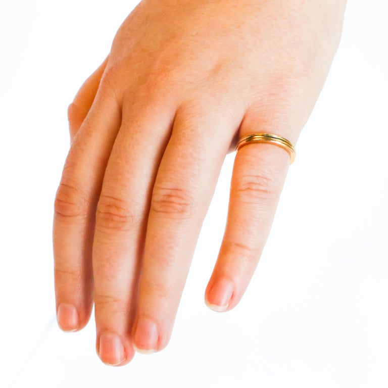 Cartier 18K Gold Ring In Excellent Condition For Sale In Carlsbad, CA