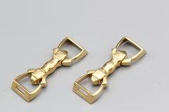 Cartier 18 Karat Gold Stirrup Cufflinks