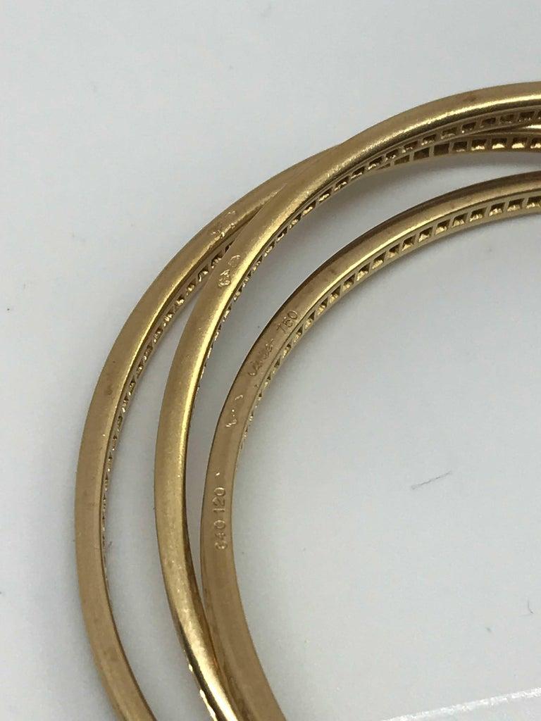 Women's or Men's Cartier 18K Gold Trinity Bracelet For Sale