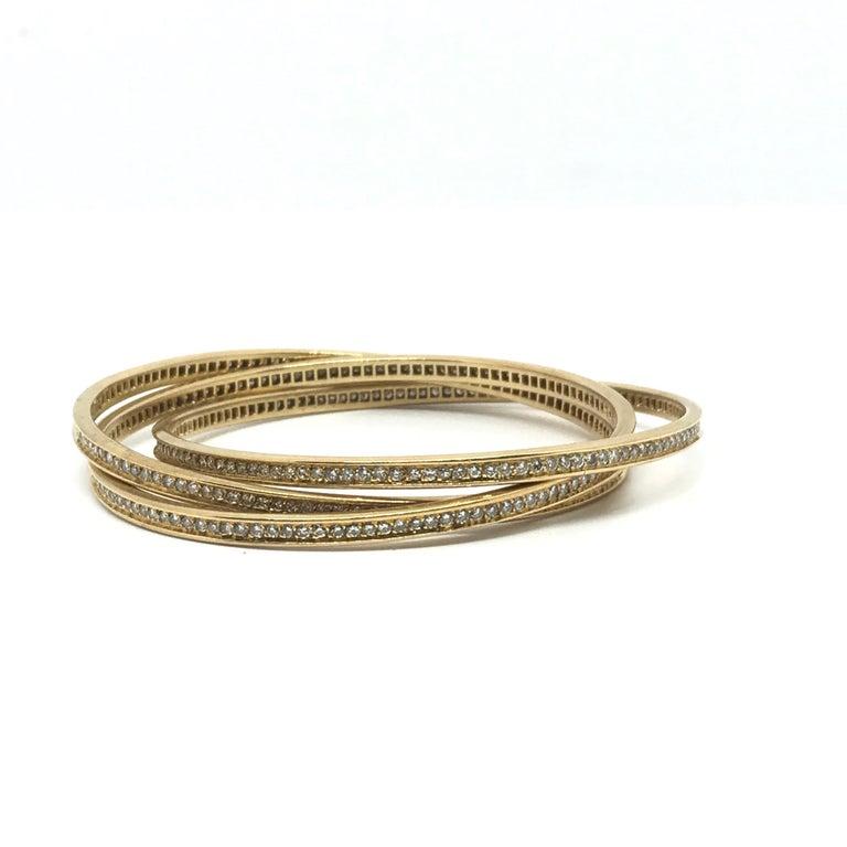 Cartier 18K Gold Trinity Bracelet For Sale 2