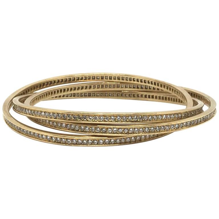 Cartier 18K Gold Trinity Bracelet For Sale