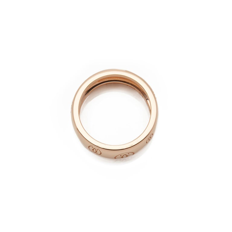 Women's Cartier 18 Karat Rose Gold Happy Birthday Ring For Sale