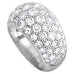 Cartier 18K White Gold 3.10 Ct Diamond Dome Ring