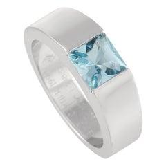 Cartier 18k White Gold Aquamarine Ring