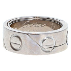 Cartier 18k White Gold Astro Love Band Ring 11.8g